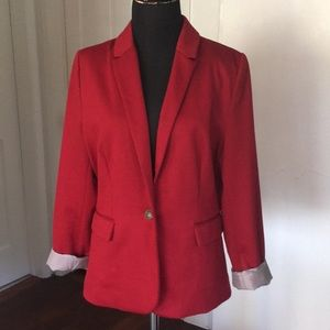 Jules and Leopold tailor fitted red blazer